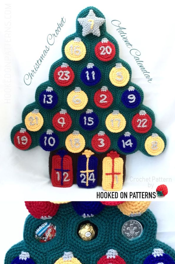 Advent Calendar Christmas Tree Crochet Pattern