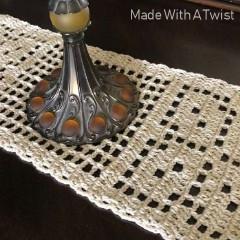 Autumn Leaves Fall Table Runner Free Crochet Pattern