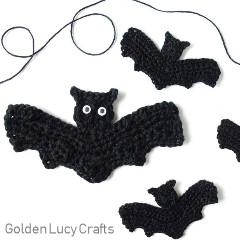 Free Bat Applique Crochet Pattern