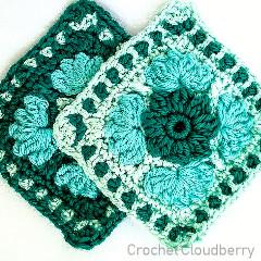 Ice Flower Granny Square Free Crochet Pattern