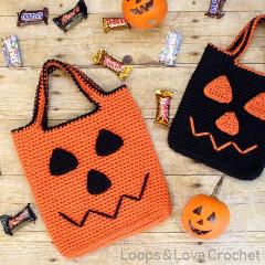 Free Jack O Lantern Trick or Treat Bag Crochet Pattern