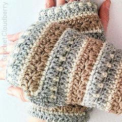 January Sky Fingerless Gloves Free Crochet Pattern