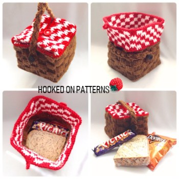 Picnic Basket Lunch Bag Crochet Pattern