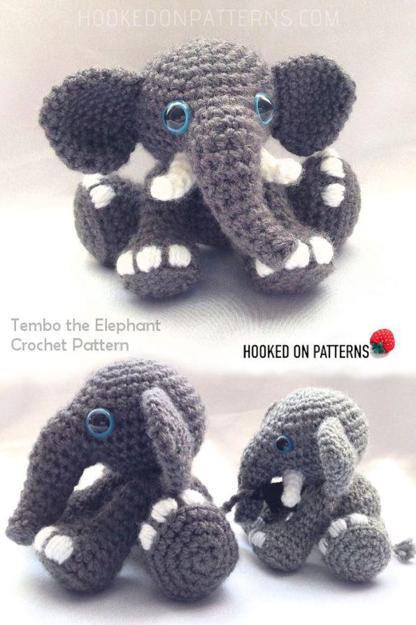 Tembo the Elephant Crochet Pattern