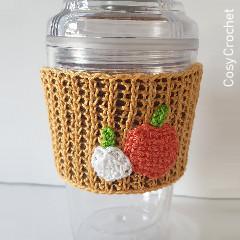 Tunisian Pumpkin Cup Cozy Free Crochet Pattern