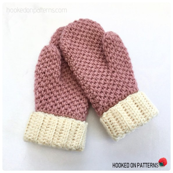 Cute & Cosy Mittens Free Crochet Pattern - Pair Pink