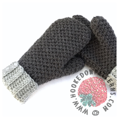 Cute Thick & Cosy Mittens Crochet Pattern