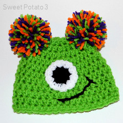 One Eyed Monster Hat Free Crochet Pattern