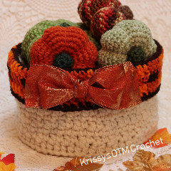 Round Plaid Basket Free Crochet Pattern