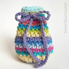 Simply Striped Drawstring Pouch Free Crochet Pattern