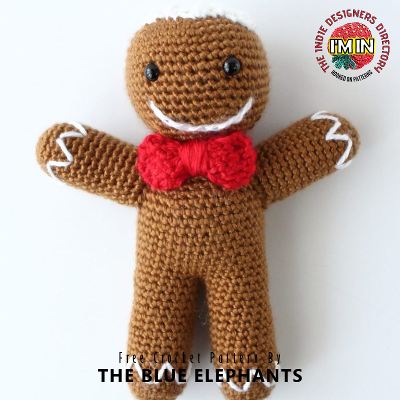 Free Gingerbread Man Christmas Crochet Pattern
