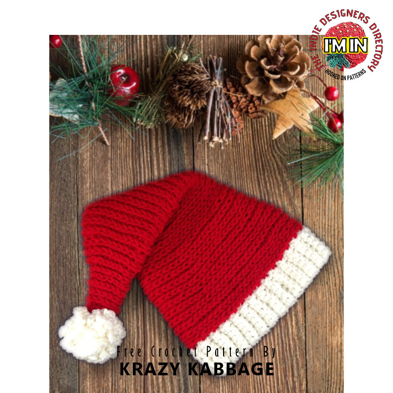 Free Christmas Santa Hat Crochet Pattern
