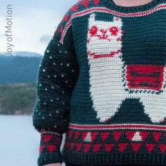Alpaca My Holiday Sweater Free Crochet Pattern