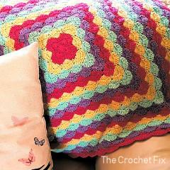 Clam Shells Blanket Free Crochet Pattern