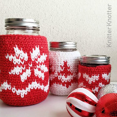 The Heart of Christmas Mason Jar Cozies Free Crochet Pattern