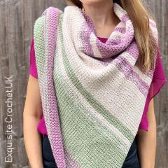 Tunisian Lucia Shawl Free Crochet Pattern