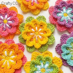 Colourful Flower Free Crochet Pattern