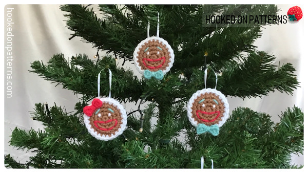 Free Gingerbread Smilies Christmas Tree Decorations