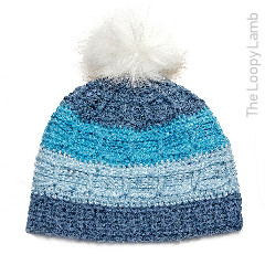 Juneau Blues Beanie Free Crochet Pattern