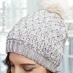Quilted Lattice Hat Free Crochet Pattern