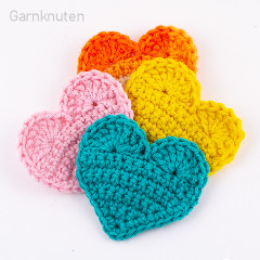 2D Heart Free Crochet Pattern