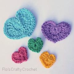 3 Little Hearts Free Crochet Pattern