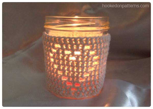 Free Heart Jar Cosy Crochet Pattern - Heart jar candle cover