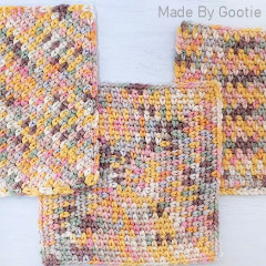 3 Way Moss Stitch Dishcloths Free Crochet Pattern