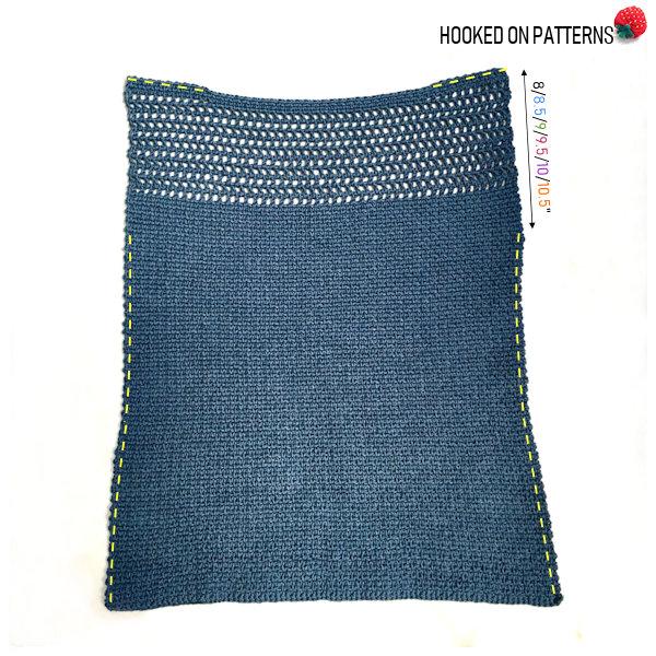 Aviva Mesh Top Tee Crochet Pattern Joining Seams