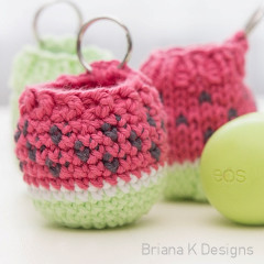 Lip Balm Holder Key Chain Free Crochet Pattern