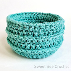 Sweet and Simple Basket Free Crochet Pattern