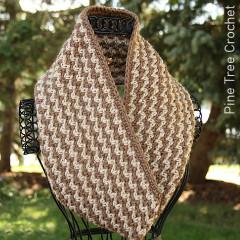 Autumn Crunch Cowl Free Crochet Pattern