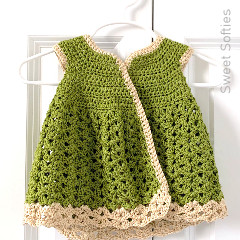 Meadow Cardigan Dress Free Crochet Pattern