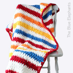 Stripey Days Baby Blanket Free Crochet Pattern