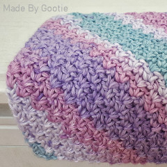 C2C Wattle Stitch Washcloth Free Crochet Pattern