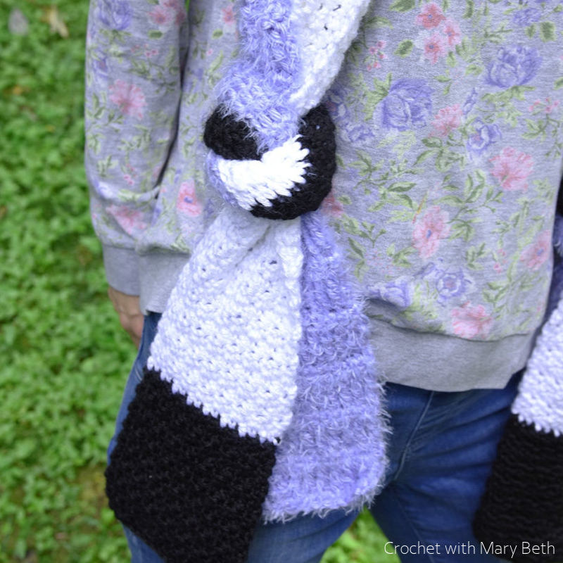 Double Knot Scarf Free Crochet Pattern
