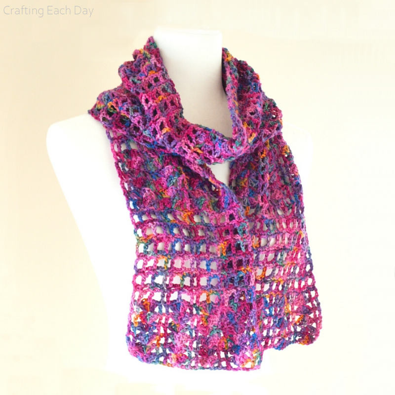 Stashbusting Lace Scarf Free Crochet Pattern