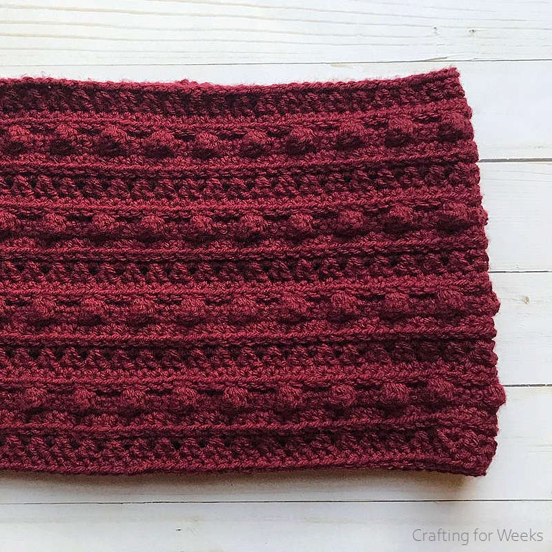 The XOXO Cowl Free Crochet Pattern