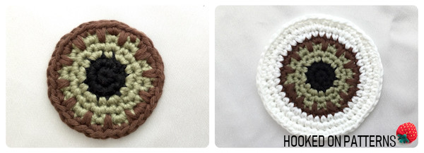 Free Eyeball Coasters Crochet Pattern Round 6-9