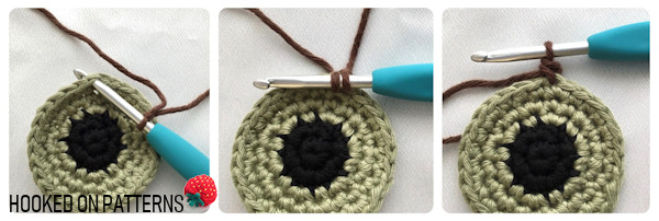 Joining with a Single Crochet for Eyeball Coasters