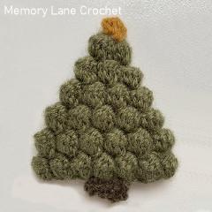 Christmas Tree Applique Free Crochet Pattern