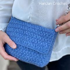 Denim Envelope Bag Free Crochet Pattern