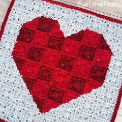 Heart Pixel Art Square Free Crochet Pattern