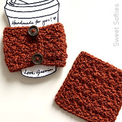 Northwest Coaster and Coffee Sleeve Free Crochet Pattern