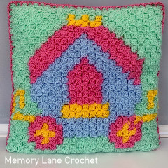 C2C Princess Carriage Cushion Free Crochet Pattern