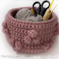 Geo Chunky Basket Free Crochet Pattern