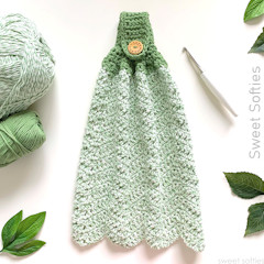 Kitchen Hand Towel Free Crochet Pattern
