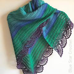 Peafowl Feathers Shawl Free Crochet Pattern