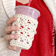 XOXO Cold Cup Cozy Free Crochet Pattern