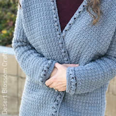 A thumbnail photo of the Becky Cardigan free crochet pattern